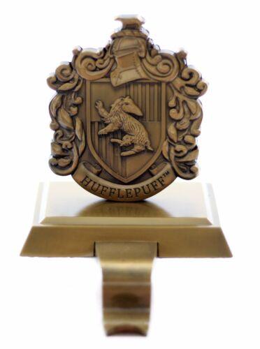 Wizarding World of Harry Potter Holiday Stocking Holder Hufflepuff Crest Gold