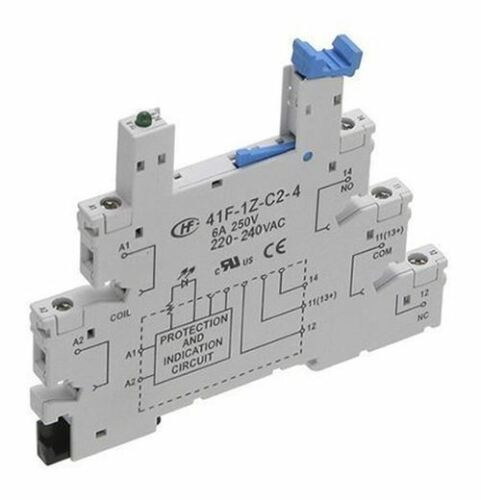 Hongfa Europe GMBH 5 Pin Relay Socket 220 → 240V ac//dc for use with HF41F Ser