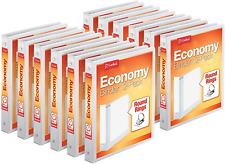 Cardinal Economy 3 Ring Binders 1 Round Rings Holds 225 Sheets 12 Binders