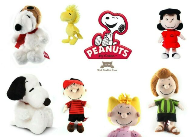 "7.5/"" Snoopy Plush Soft Toy Peanuts Aurora Cuddly 75inch Gift New"