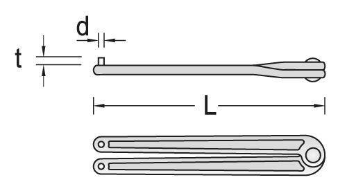 GEDORE Zweilochmutterndreher verstellbar 6 mm