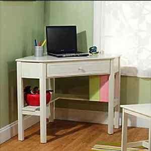 Delicieux ... Corner Desk Antique White Kids Teen Room Dorm