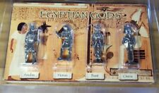 4 Egyptian Gods Metal Figures Presentation Box Osiris Pharoah Egyptologist bnip