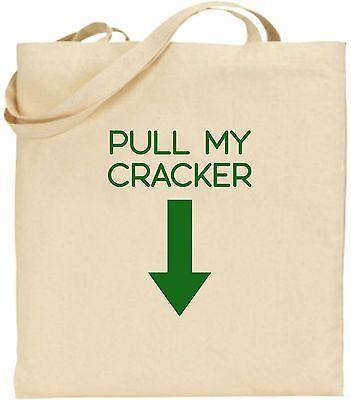 Pull My Cracker Groß Baumwolle Einkaufstasche Weihnachten Bag Geschenk Geheimnis