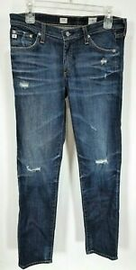 AG-Adriano-Goldschmied-Stilt-Cigarette-Leg-Skinny-distressed-Jeans-30Rx31-1A