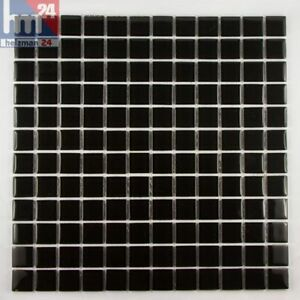 Mosaico in vetro nero pietra piastrelle per il bagno cucina piscina ebay - Mosaico vetro bagno ...