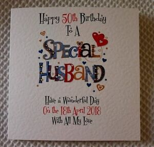 Image Is Loading Handmade Personalised Birthday Card SPECIAL HUSBAND 30th 40th