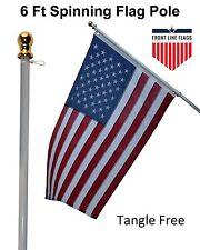 US USA Flag American Sleeve Pole 2x3 Pole3x5 ft 2Pcs 3' 5' Flagpole Wall Mount