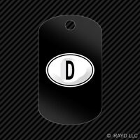 Deutschland Germany Oval Keychain Gi Dog Tag Engraved Many Colors Country Code