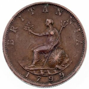 1799-Great-Britain-1-2-Penny-in-Extra-Fine-Condition-KM-647