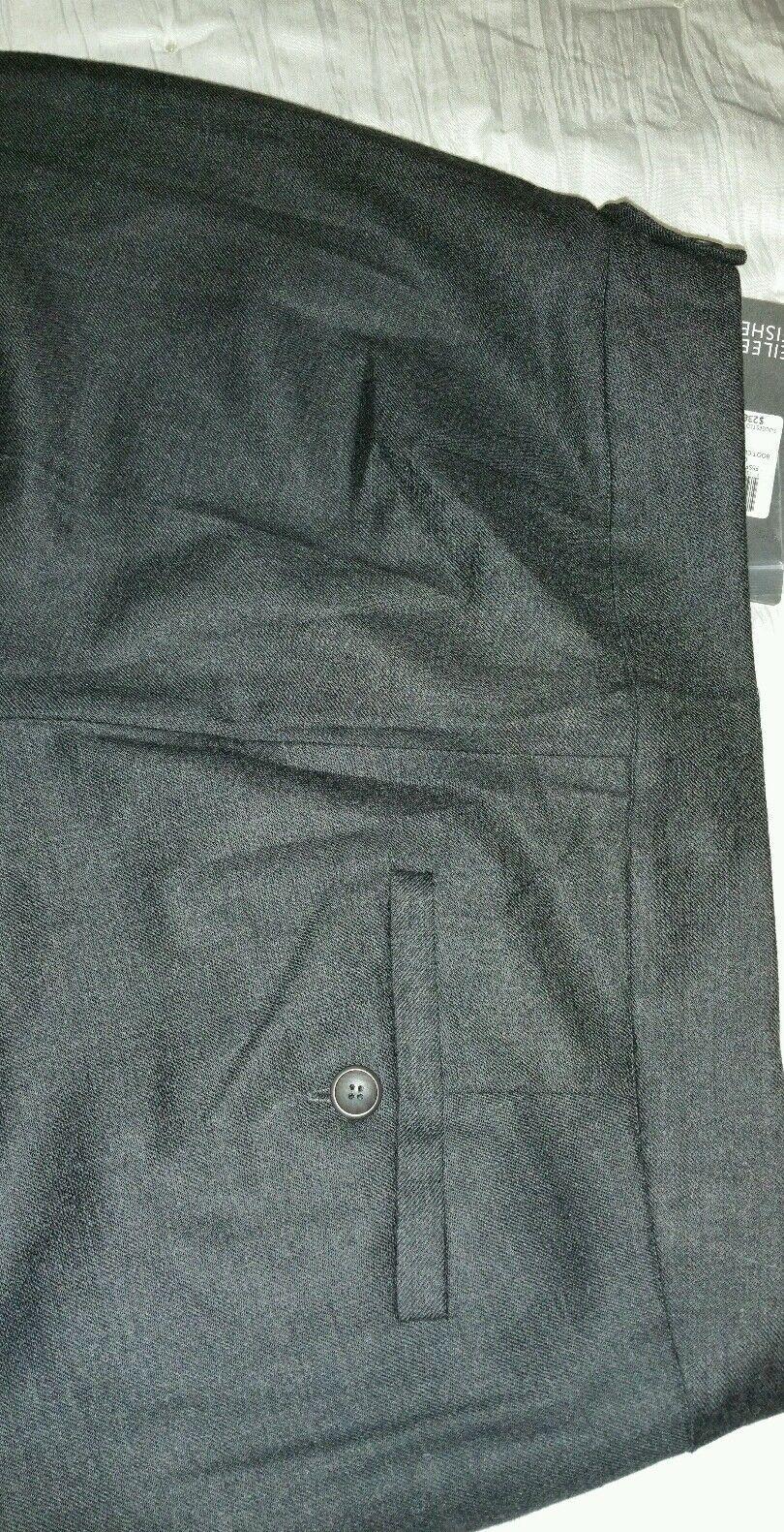 4. 4. 4. Eileen Fisher estiramiento de lana Nuevo con etiquetas botacut Pantalón En Carbón b1ad37