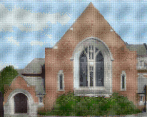 "Anchor Cross Stitch Kit 10/""x8/"" 14 Count South Parade Baptist Church Leeds"