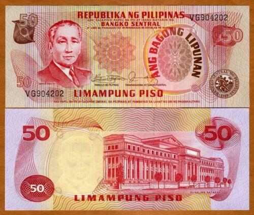 Philippines ND 50 Piso 163c P-163 UNC 1978