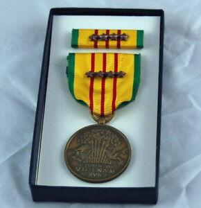 Vietnam-Service-Medal-4-battle-Stars-Dated-1969