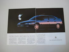 advertising Pubblicità 1990 CITROEN XM TURBO D 12V