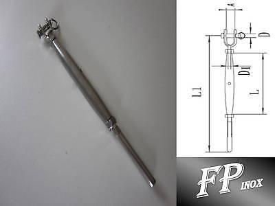 Ridoir à Sertir 190mm Pour Cable de 4mm inox A4-316