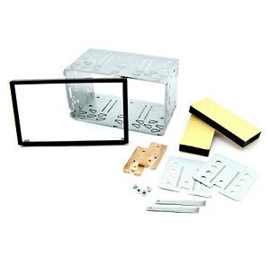 Doppel-DIN-2DIN-Radioblende-Einbaurahmen-Metall-Rahmen-Einbauschacht