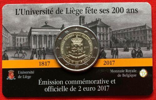"Belgium 2 euro 2017 /""University of Liege/"" BiMetallic UNC"
