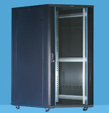 12U Server Rack cabinet 600 (W) x 800 (D) x 634 (H) Glass Front Door Flat pack