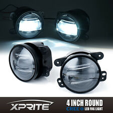 """Xprite 4"""" G2 Round 60W CREE LED Fog Light with DRL for 07-17 Jeep Wrangler JK TJ"""