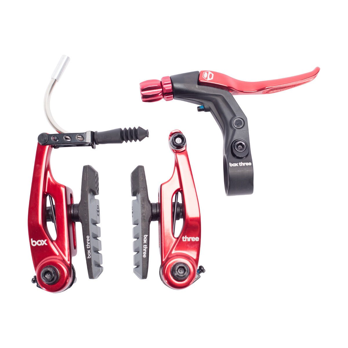 BRAKE  KIT BOX THREE V Caliper 85mm w LEVER red AND CABLE SHORT MINI BMX  here has the latest