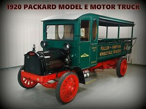 1920 Packard Motor Truck NEW Metal Sign: Model E Grocery Delivery - Beautiful!