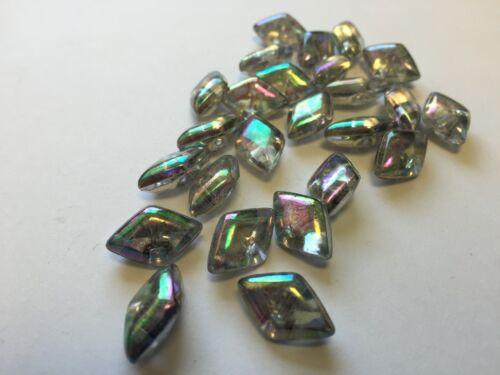 15mm Diamante AB Transparente Sew en los botones hágalo usted mismo Moda Craft Vestido haciendo 30 X 10