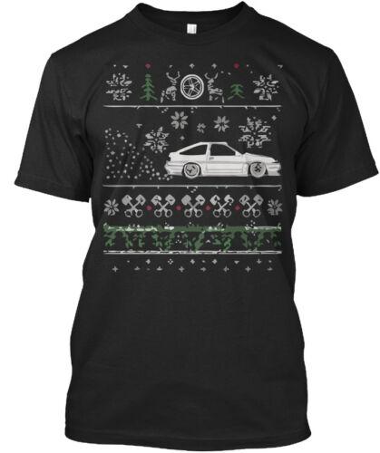 Génial Ugly Christmas Drifting Ae86 Standard Unisexe T-Shirt