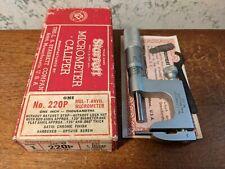 Starrett 0 1 Inch Multi Anvil Micrometer No 220 With Box