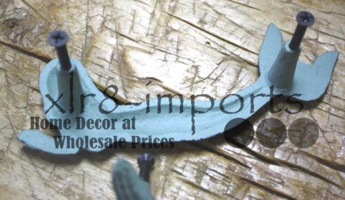 6 Cast Iron NAUTICAL MERMAID Style Drawer Pull Barn Handle Door Handles Beach