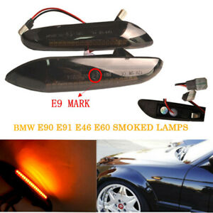 BMW-LED-Side-Indicator-Repeater-Singal-Smoked-Light-For-E46-E90-E92-E60-E61