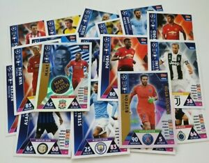 2018-19-Match-Attax-UEFA-Soccer-Cards-Lot-of-20-cards-inc-2-shiny