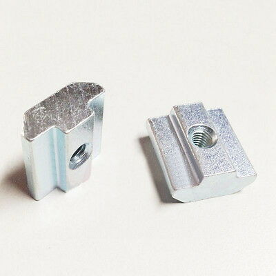 10-100pcs Drop In T-Nut M3-M6 T-slot Alu Extrusion 2020 11x10.2mm Carbon Steel
