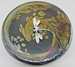 KHeaton Neo Art Glass pink heart sterling silver frog fairy dragonfly butterfly