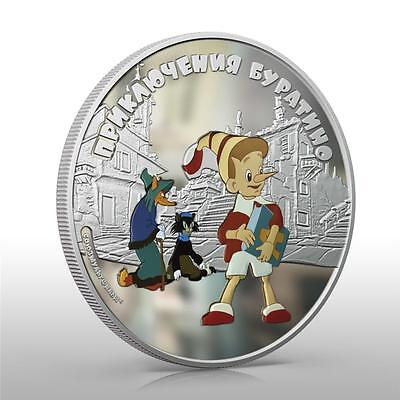 Cook Islands 2012 5$ Adventures Of Buratino 1oz Buratino *mintage 1000 Only*