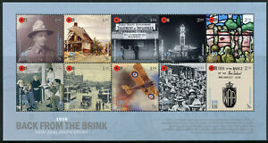 New-Zealand-NZ-2018-MNH-WWI-WW1-1918-Back-from-Brink-10v-M-S-Military-War-Stamps