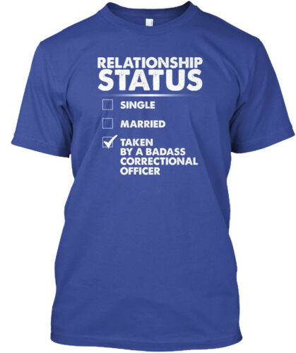 Relationship Status Hanes Tagless Tee T-Shirt Correctional Officer S Lady