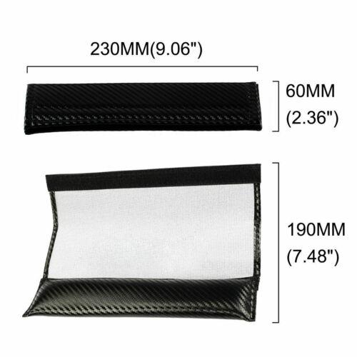 2x For Citroen Fiber Car Logo Seat Belt Shoulder Pad Cover Cushion Carbon