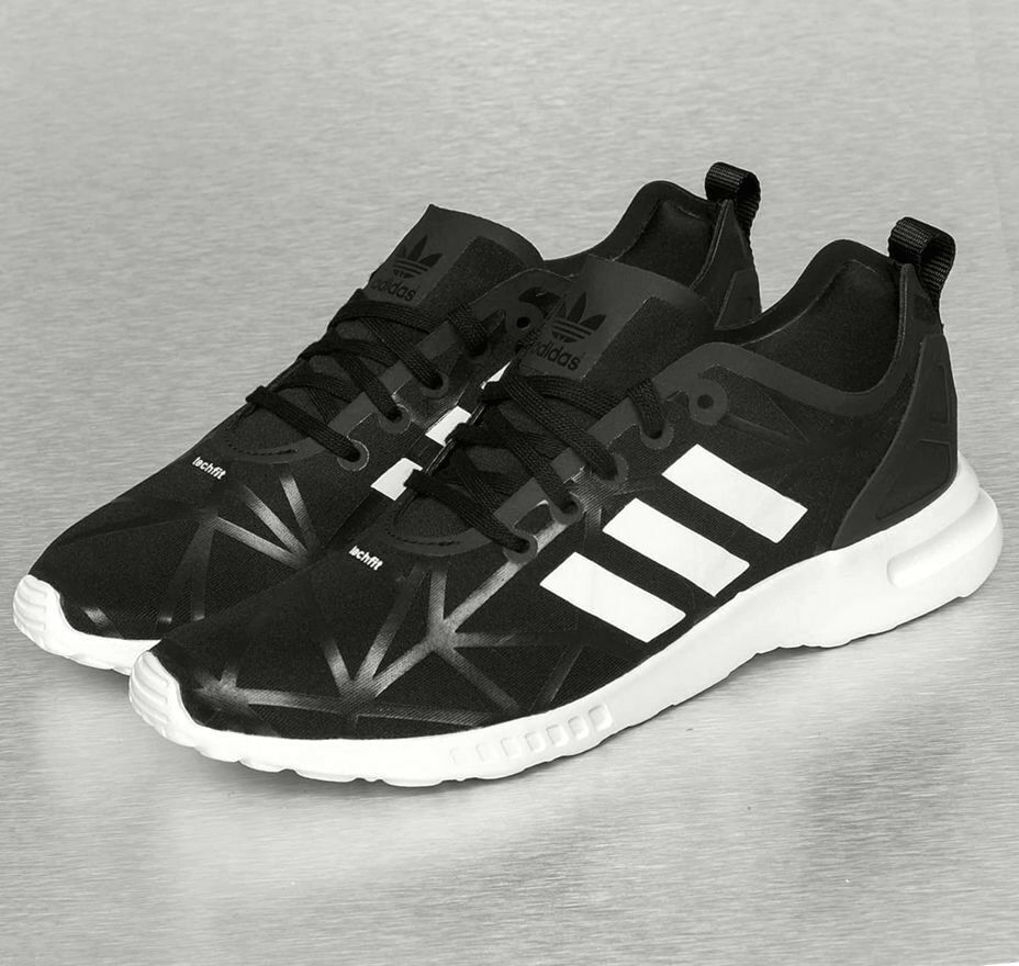 Adidas ZX Flux Smooth Femmes Fitness Chaussures De Sport Chaussures De Course chaussures Noir 39 40