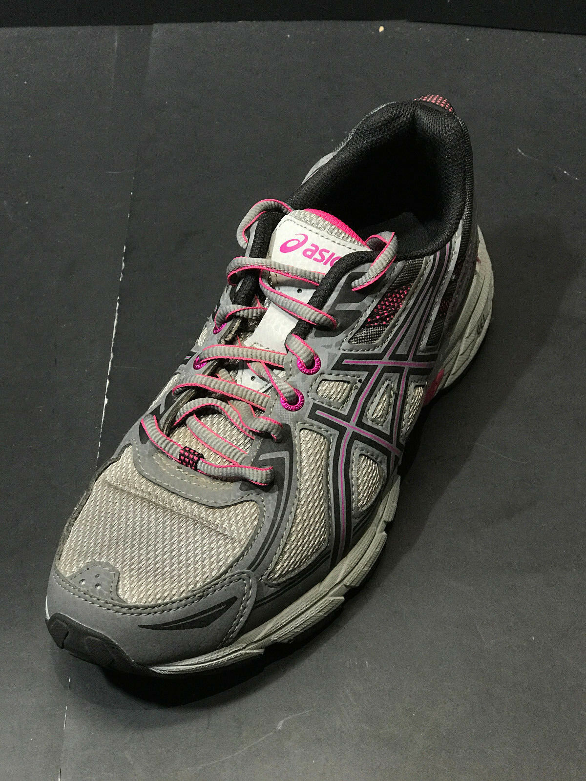 Asics Women's Gel-Venture 6 Trail Running shoes Carbon Black Pink Size US 9.5 M