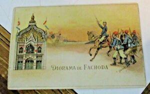 DIORAMA-DE-FACHODA-FP-NV-da-CARNET-OU-PASSEPARTOUT-DE-L-039-EXPOSITION-1900