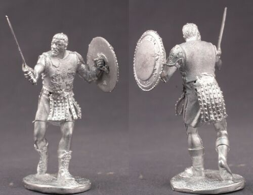 tin toy soldiers unpainted  54mm gladiator
