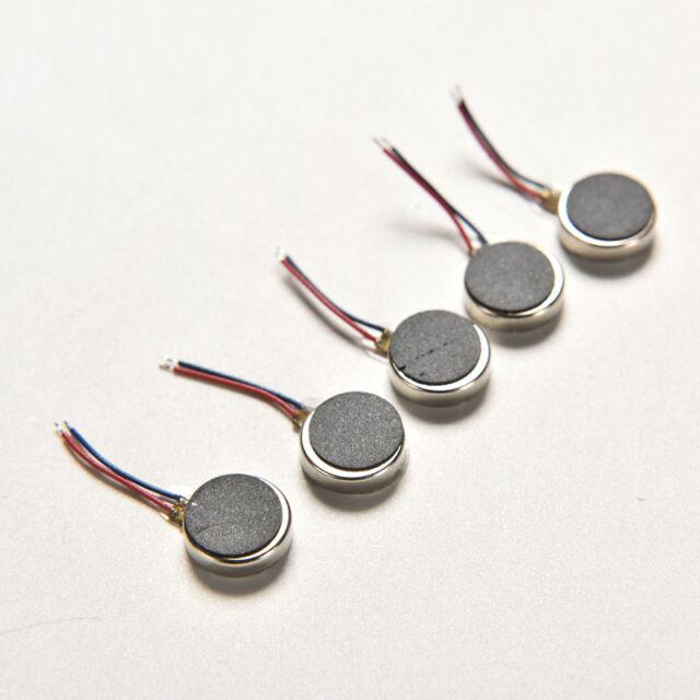 5Pcs DC 3V 10mm x 2.7mm 1020 Cell Phone Coin Flat Vibrating Vibration Motor BR