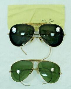 ray ban aviator gold frame green lens