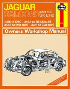 Jaguar Saloons Mk1 Mk2 240 340 1955-1969 Haynes Workshop Manual ...