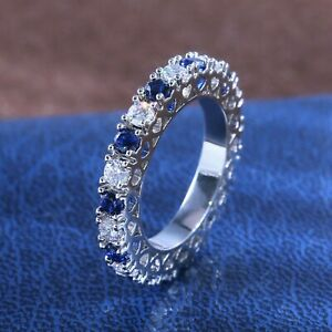 14K-White-Gold-Certified-2-00-Ct-Diamond-Eternity-Band-Excellent-Round-Shape
