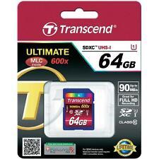 64GB Transcend 64 GB Secure Digital SDXC Memory Card Stick Drive Disk HDD 3G HD