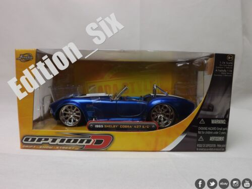 Jada 1:24 Ford Shelby Cobra 427 SC Blue Modifed Muscle Car Boxed