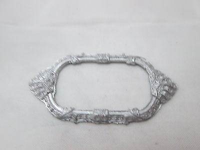 Dollhouse Miniature Unfinished Metal Oval Shell Frame