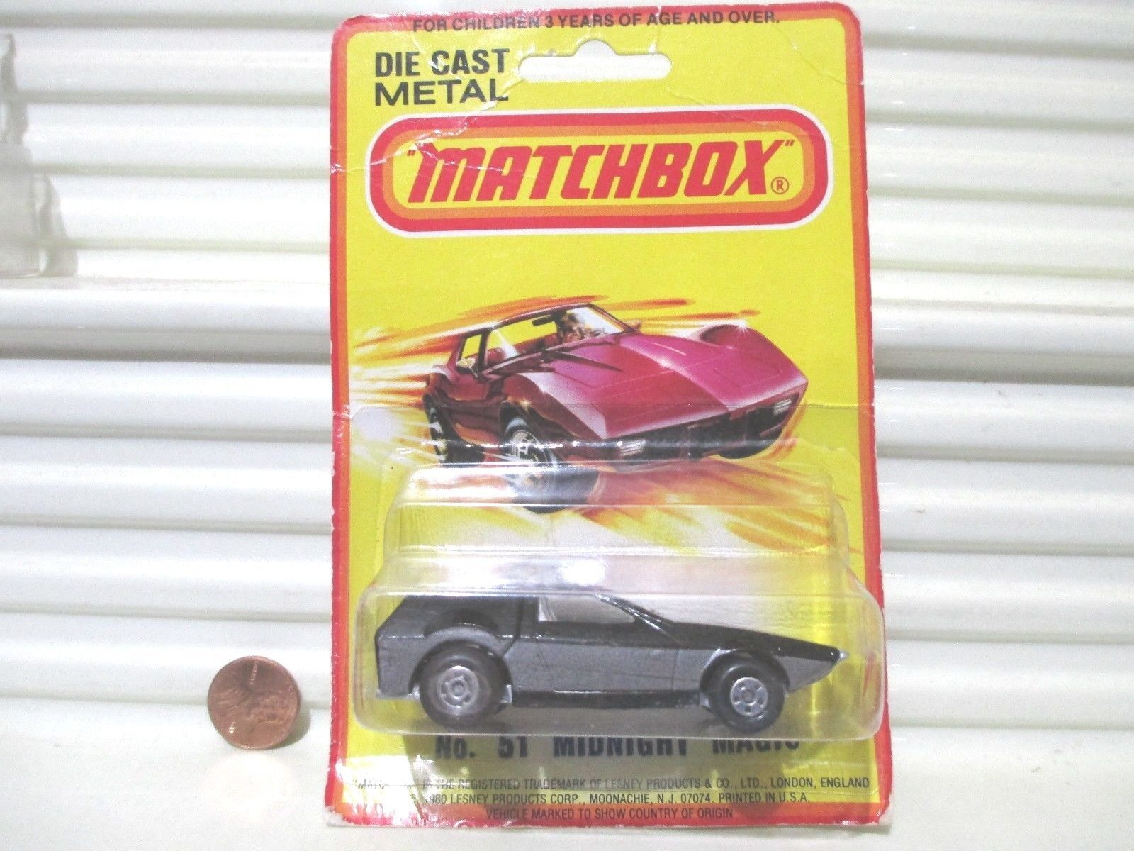 Hong Kong Lesney Matchbox 1972 MB51E Midnight Magic Car Factory Mint on GoodCard